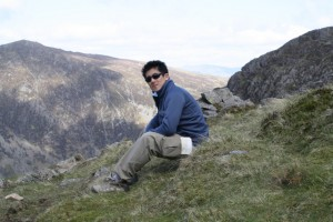 Jun overlooking Haystacks