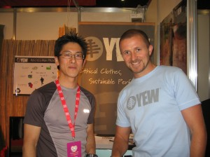 Jun and Tristan at London Marathon Expo